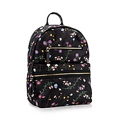 Faith - Multi Floral Print 'Isla' Double Zip Backpack