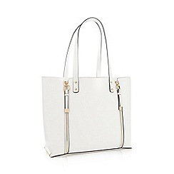 Faith - White Faux Leather 'Isla' Shopper Bag