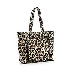 Faith - Leopard Print Double Zip 'Isla' Shopping Bag