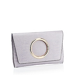 Faith - Lilac Croc Effect Circle 'Gabby' Clutch Bag