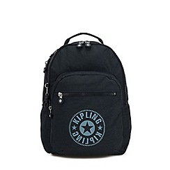 Kipling - Navy 'Clas Seoul' Large Backpack with Laptop Protection