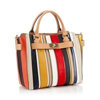 5cf6405cd80f J by Jasper Conran - Multicoloured Striped  Fitzrovia  Grab Bag