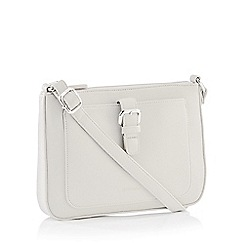 Principles - Grey Front Buckle Cross Body Bag
