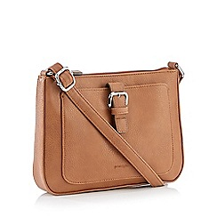 Principles - Tan Front Buckle Cross Body Bag