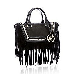 Star by Julien Macdonald - Black Fringe Trim 'Nicole' Small Grab Bag