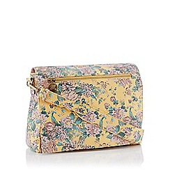 Mantaray - Yellow Floral Print 'Ives' Satchel Bag