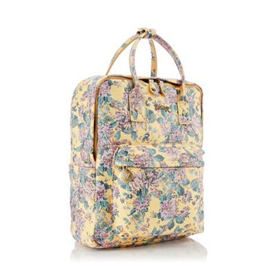 Mantaray - Yellow Floral Print  Ives  Backpack df942b8d840c0