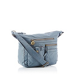 Mantaray - Blue Washed Multi Pocket Hobo Bag