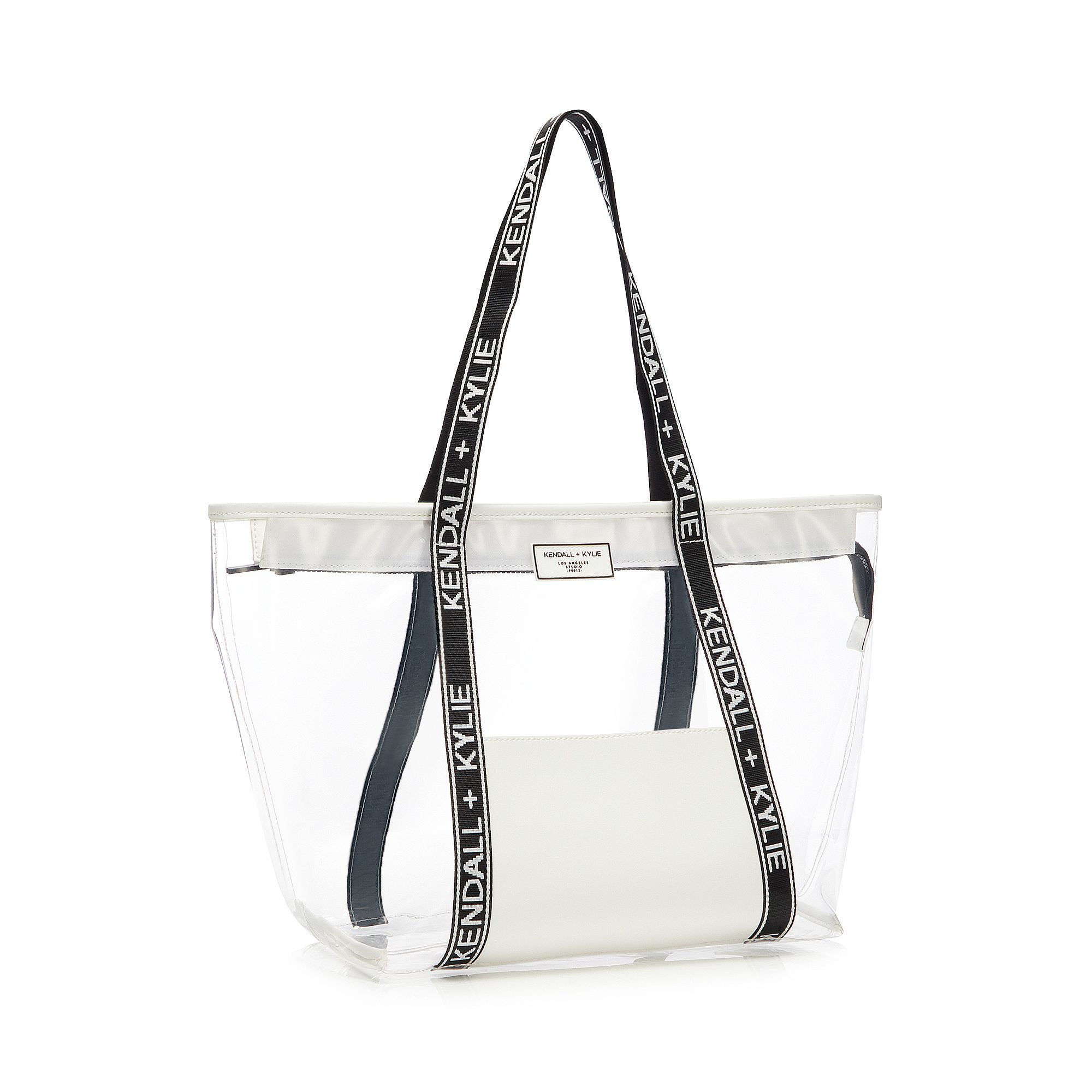 Details About Kendall Kylie White Perspex Bobbie Tote Bag