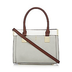 J by Jasper Conran - Grey bar colour block grab bag