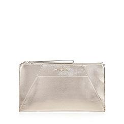 J by Jasper Conran - Silver metallic clutch bag
