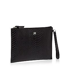 Star By Julien Macdonald Black Reptile Textured Clutch Bag