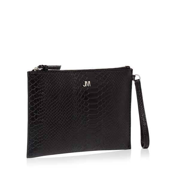 Julien bag Macdonald Black reptile clutch Star by textured pw1F5