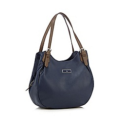 The Collection - Navy buckled shoulder bag