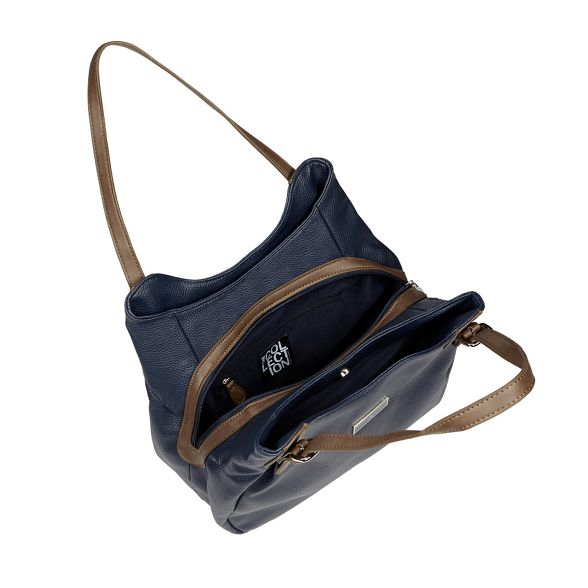 Collection buckled The bag Navy shoulder RwxqWzzdv