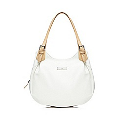 The Collection - White three compartment shoulder bag