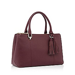 J by Jasper Conran - Dark red leather tote bag