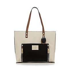 J by Jasper Conran - Cream signature detail shoulder bag