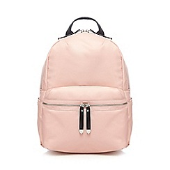 Red Herring - Pink zip backpack