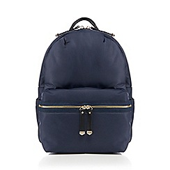 Red Herring - Navy zip detail backpack