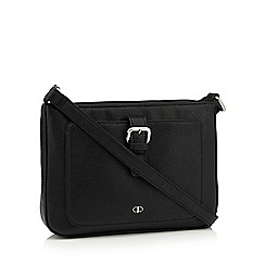 The Collection - Black front buckle cross body bag