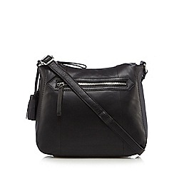 The Collection - Black tasselled detail cross body bag