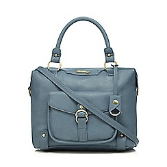 Mantaray - Light blue front pocket bowler bag