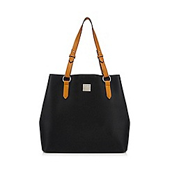 Principles - Black grained shopper bag
