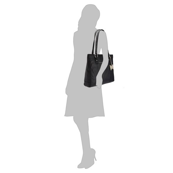 Black Collection leather The stitch bag tote detail 5Ufqw