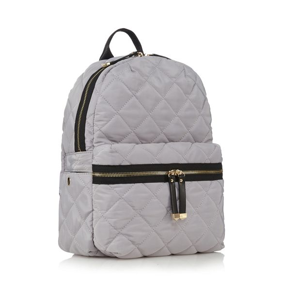 Red Red Grey quilted backpack quilted Grey Herring backpack Herring xqgqIZBv