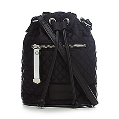 Red Herring - Black quilted duffle bag