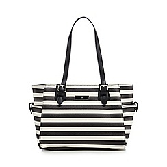 The Collection - Black striped print grab bag