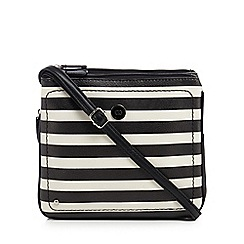 The Collection - Black striped cross body bag