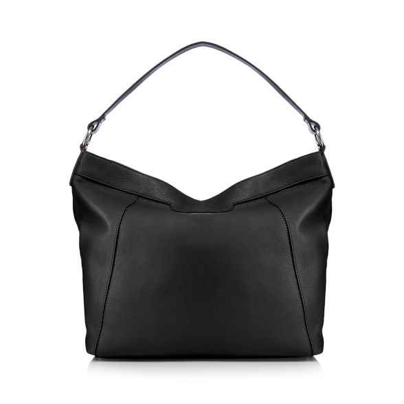 Eighth shoulder Black bag leather The YxZdwPY