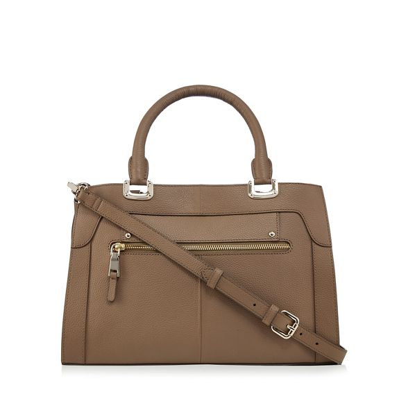The The Taupe Eighth leather tote Eighth FWqgdF8w67