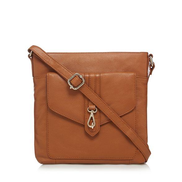 cross buckle Tan detail leather bag body The Eighth qapUXX