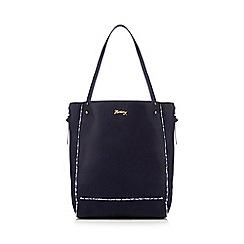 Mantaray - Navy ditsy trim shopper bag
