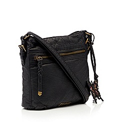 Mantaray - Black woven cross body bag