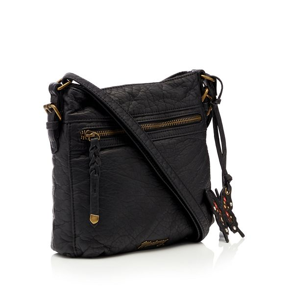 Black woven cross body Mantaray bag d5qgnU1a