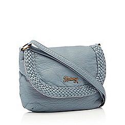 Mantaray - Blue woven cross body bag