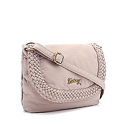 Mantaray - Light purple woven cross body bag