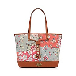 Mantaray - Multi-coloured floral patchwork print tote bag