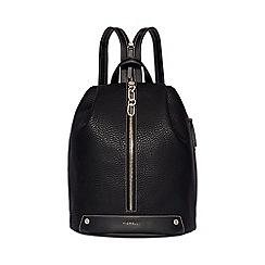 Fiorelli - Black bolt zipped backpack