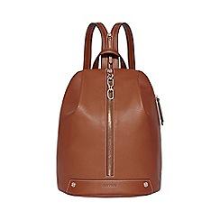 Fiorelli - Tan bolt zipped backpack