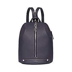 Fiorelli - Dark blue bolt zipped backpack