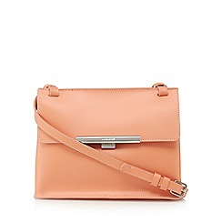 Lancaster - Peach leather 'Lilly' cross body bag