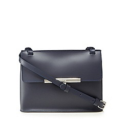 Lancaster - Navy leather 'Lilly' cross body bag