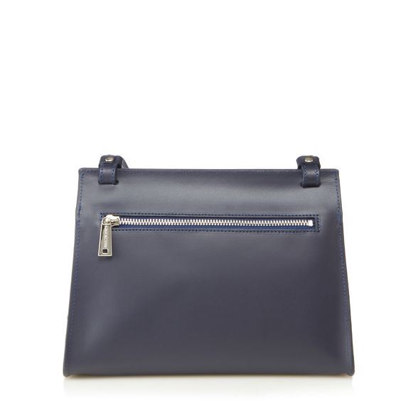 'Lilly' Lancaster bag leather body Navy cross qOOARSwEx