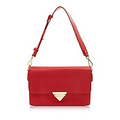 Marc B - Red 'Tina' Triple compartment shoulder bag