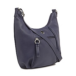 The Collection - Navy zip detail shoulder bag
